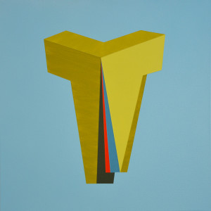 Andre Stitt 'Bangin'89 (Berlin)' acrylic on canvas, 60x60cm, 2019 copy