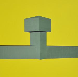 Andre Stitt 'Compound' acrylic on wood panel, 60x60cm, 2020 copy