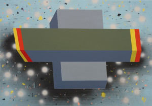Andre Stitt 'Ghost Town' acrylic on wood panel, 59x84cm, 2019 copy
