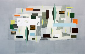 Andre Stitt 'Hansaviertel' acrylic on canvas 190x300cm 2017