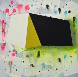 Andre Stitt 'The Sense of an Ending' acrylic on wood panel, 90x90cm 2019 copy