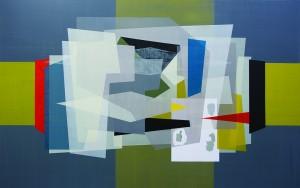 Stitt 'The Rebuilding of the Great Snowdonia Spaceport', acrylic on canvas 190 x 300cm 2016 copy