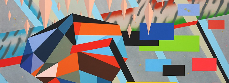 WEB STITT 'Hot Notorious Season (On The Morning After The Eighties)' acrylic and spray paint on cotton duck, 140x200cm, 2018 copy