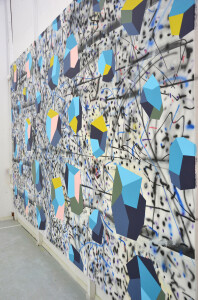 Andre Stitt 'Lockdown' (side view)2020 acrylic on canvas, 190x300cm copy