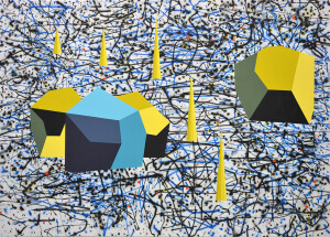 Andre Stitt ' Reading The Terrain For The Scent Of Passing' acrylic on canvas, 180x250cm 2020 copy