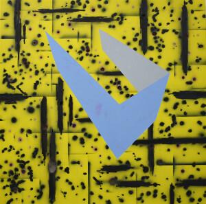 Andre Stitt Pen (Unknown Origin) acrylic and oil on canvas, 100x100cm, 2020