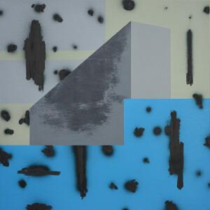 andre stitt 'Penrhys ll' acrylic & oil on canvas, 50x50cm, 2020